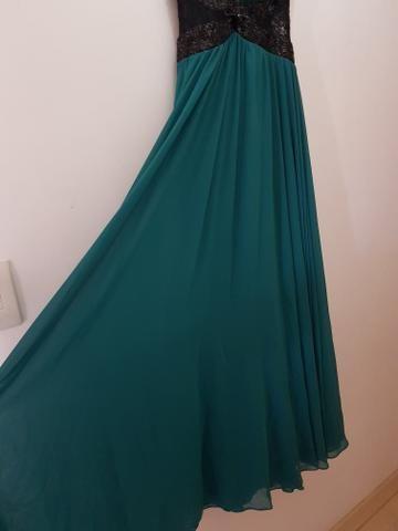 4bfd348b23 Vestido longo de festa verde escuro 42 44 - Roupas e calçados - Novo ...