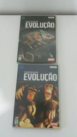 02 Dvd's Evolução ( 10.00 reais cada dvd