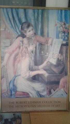 Quadro com gravura do pintor Renoir