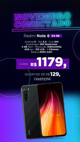 Redmi Note 8 versão global! 12 meses garantia! - Foto 2