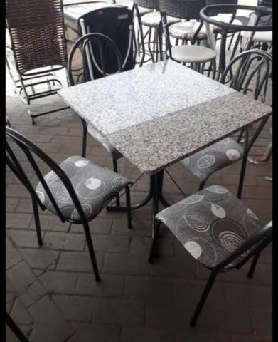 Mesa em granito 4 cadeiras, Nova - Foto 2
