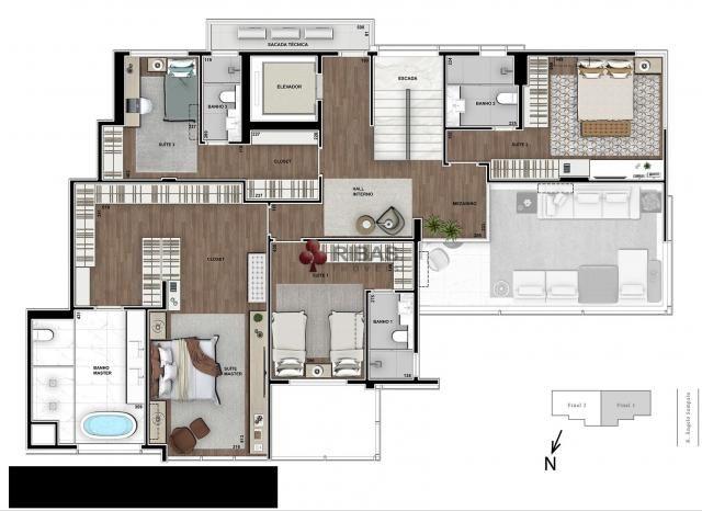 Apartamento à venda com 5 dormitórios em Batel, Curitiba cod:15373 - Foto 15