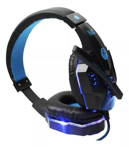 Headphone Gamer com Led e fio corda - Foto 3
