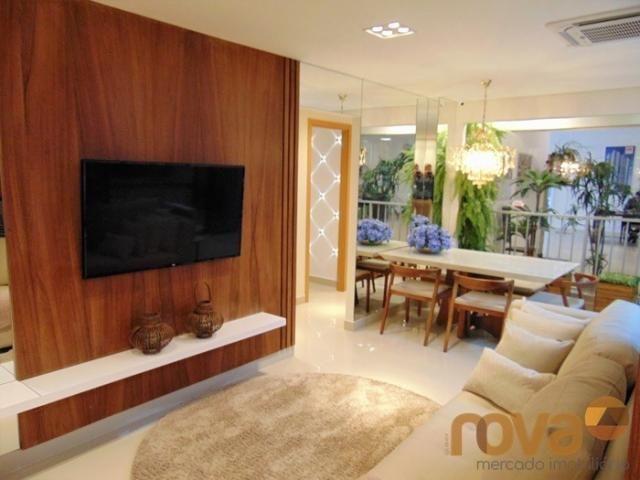 Apartamento à venda com 3 dormitórios em Setor pedro ludovico, Goiânia cod:NOV91510 - Foto 2