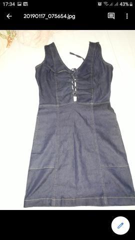 Vestido jeans semi novo - Foto 2