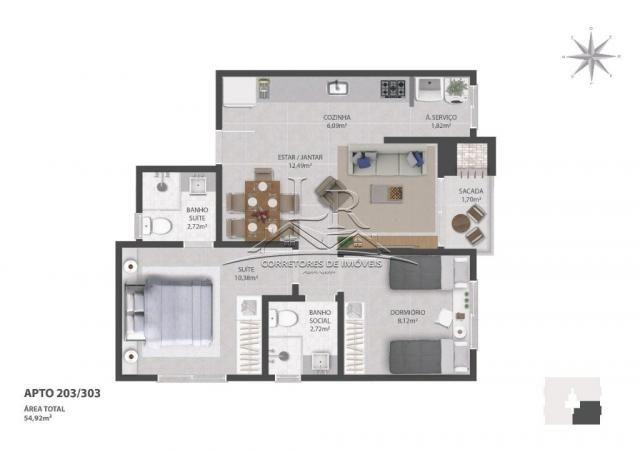 Apartamento à venda com 3 dormitórios em Ingleses do rio vermelho, Florianópolis cod:1685 - Foto 6