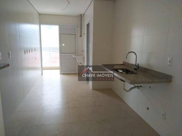 Apartamento com 3 dormitórios à venda, 111 m² por R$ 740.000,00 - Marapé - Santos/SP - Foto 8