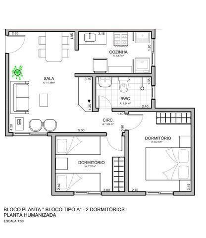 Apartamento à venda, 47 m² por R$ 128.990,00 - Santa Cândida - Curitiba/PR - Foto 14