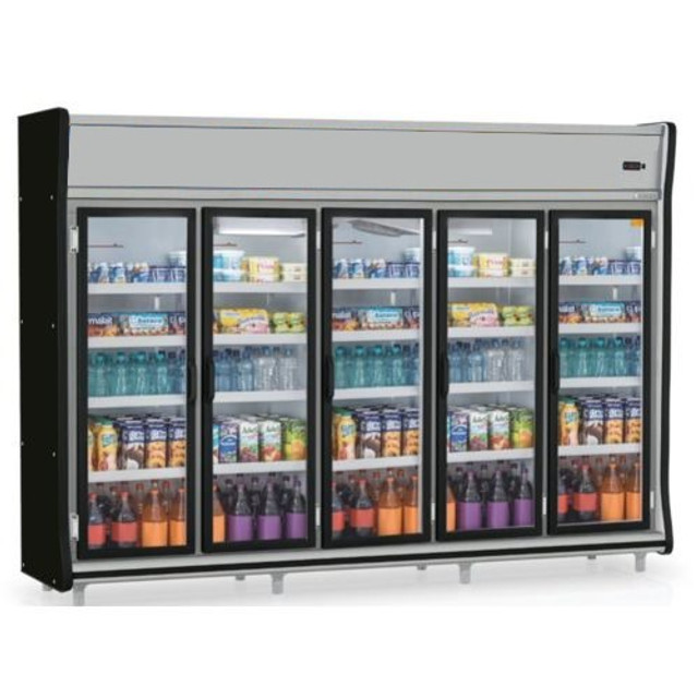 Expositor Vertical 5 portas Refrigerado -Gelopar - Produto Novo