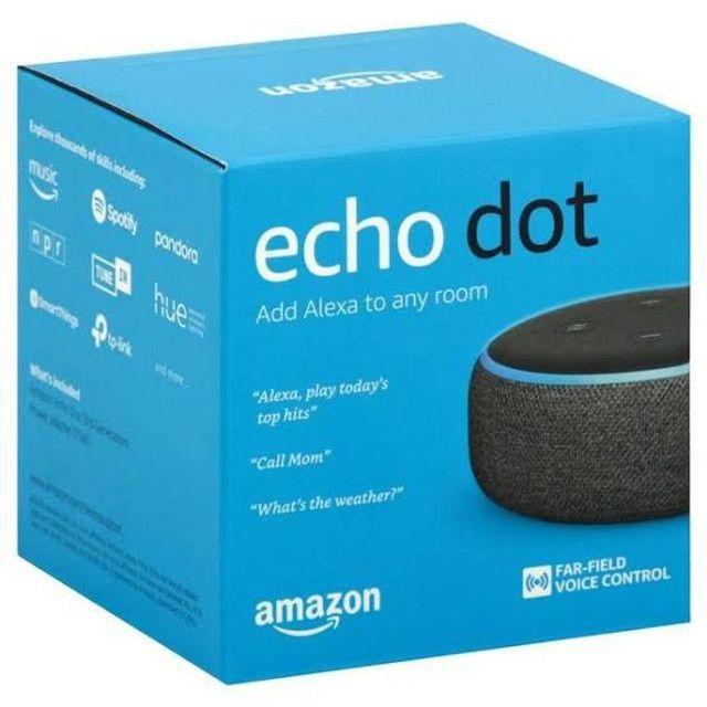 Caixa de Som Amazon Echo Dot 3ª Geração Bluetooth ALEXA<br>