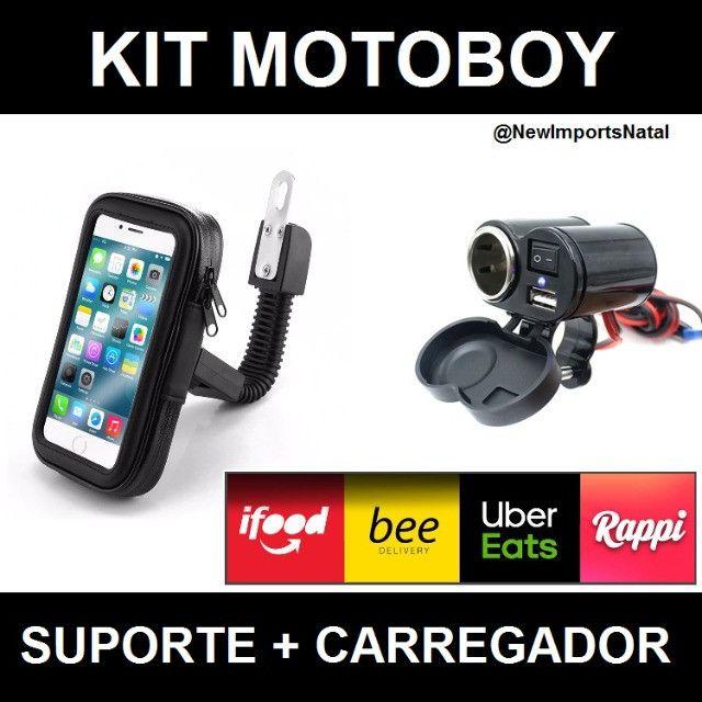 Kit para Motoboy ( Suporte + Carregador )