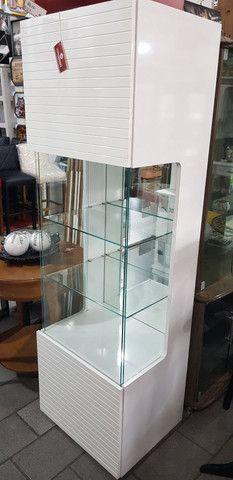 Cristaleira Decorativa Rudnick Laqueada Alta Qualidade