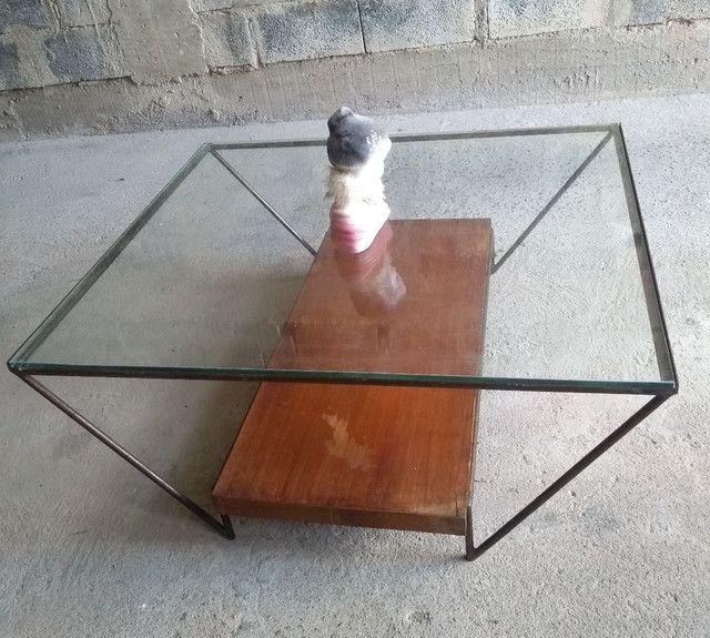 Mesa de centro de vidro semi-nova - Foto 2