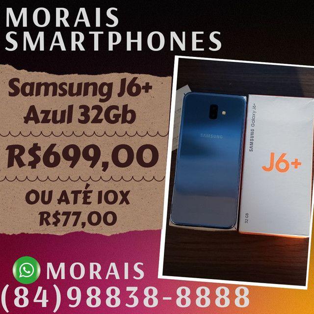 Samsung J6 Plus Prata 32Gb (SEMI-NOVO+NOTA FISCAL)  - WHATS ( 8 4 ) 9 8 8 3 8 - 8 8 8 8