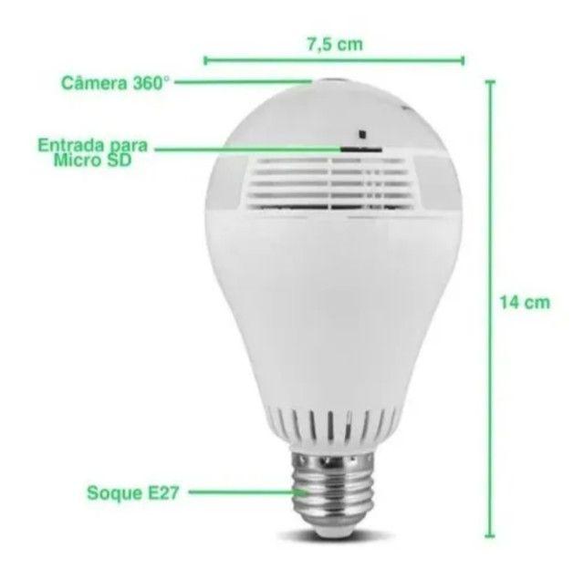 Lâmpada LED Câmera WIFI 360º - Foto 2