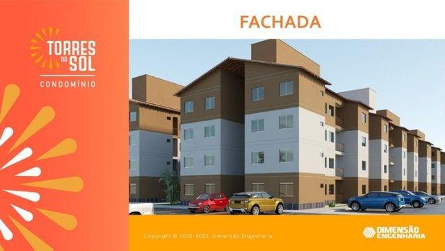 com apartamento de 44m², condomínio torres do sol, 2 quartos - Foto 4