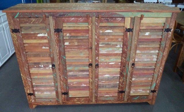 comoda em madeira de demolição portas ventiladas. - Foto 5