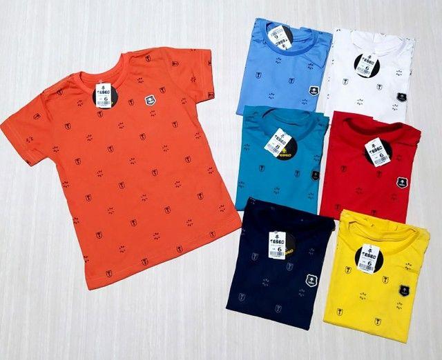 Camisa Infantil masculino dinossauro Estampas/ camisa camiseta Infantil meninos - Foto 3