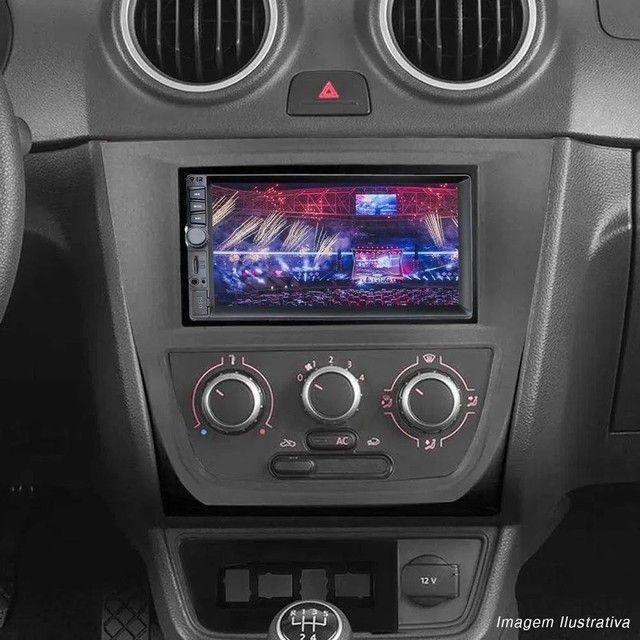 """Central Multimídia 2 Din 7"""" Multilaser Evolve GP345 TV Digital BT USB Espelhamento<br><br> - Foto 2"""