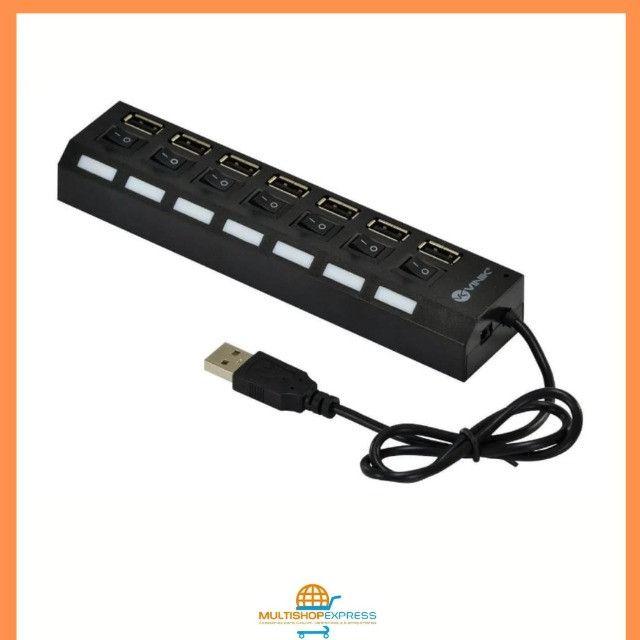 Hub USB 2.0 7 portas com LED indicador Vinik - Foto 5