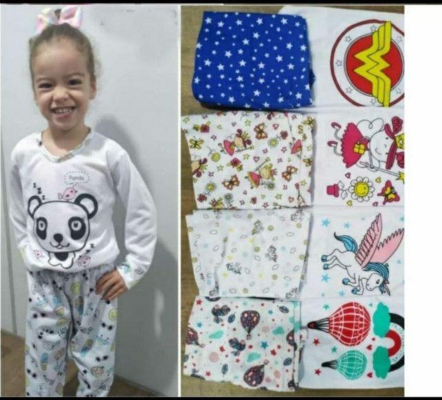 Pijamas infantis compridos