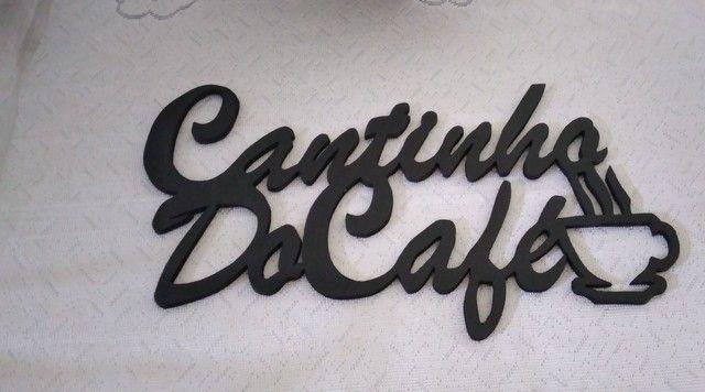 Placa cantinho do café em MDF