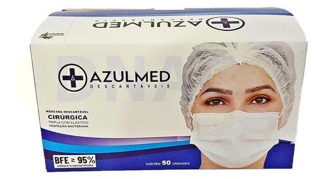 Máscara Cirúrgica Descartável Tripla Proteção 50 unid.