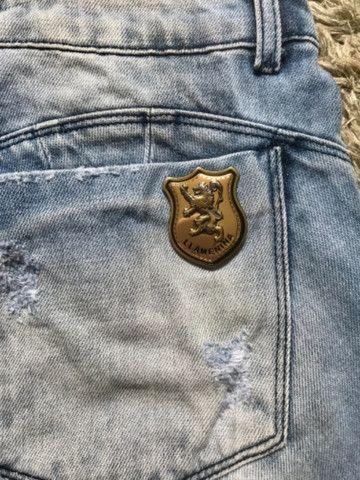 Short Saia Jeans Llamenina Feminino Tam 38 - Foto 2