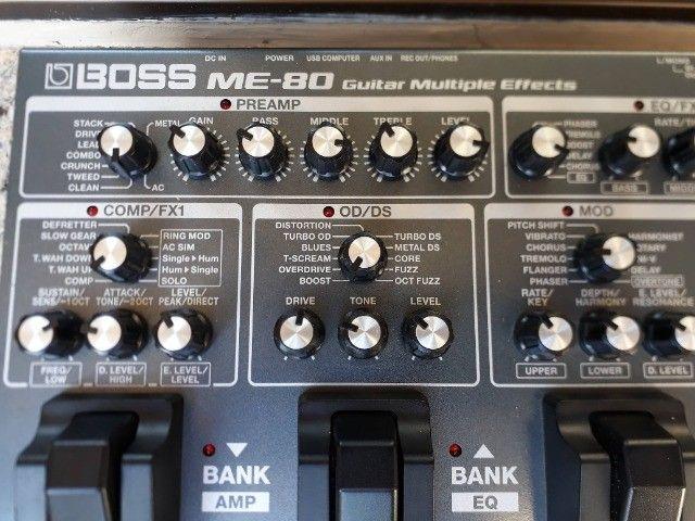 Boss ME-80 linda c/fonte original e bag mochila ,parcelo no cartão/ML - Foto 5