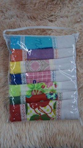Toalhas bordadas kit com 7