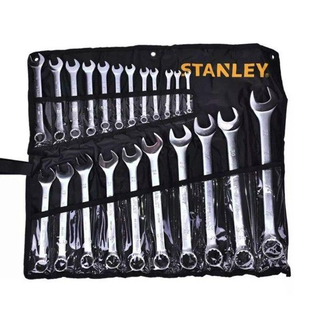 Jogo de Chaves Combinadas 15 Peças 6 a 32mm Stanley