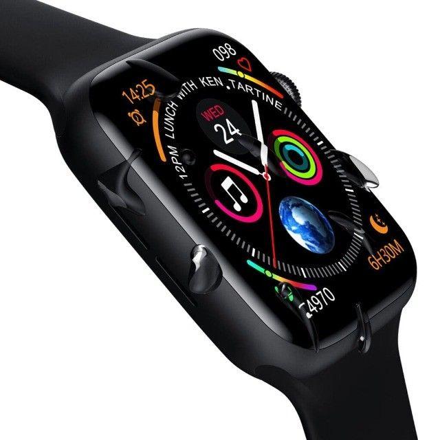 Relógio Smartwatch Iwo W26 Original Bluetooth Tela Infinita - Foto 4