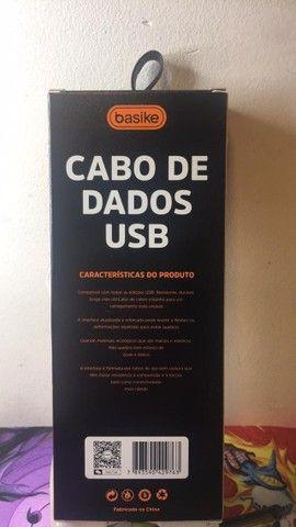 Cabo de Dados USB 2.4 A Modelo: BA-CB09948 1200 MM Basike - Foto 5
