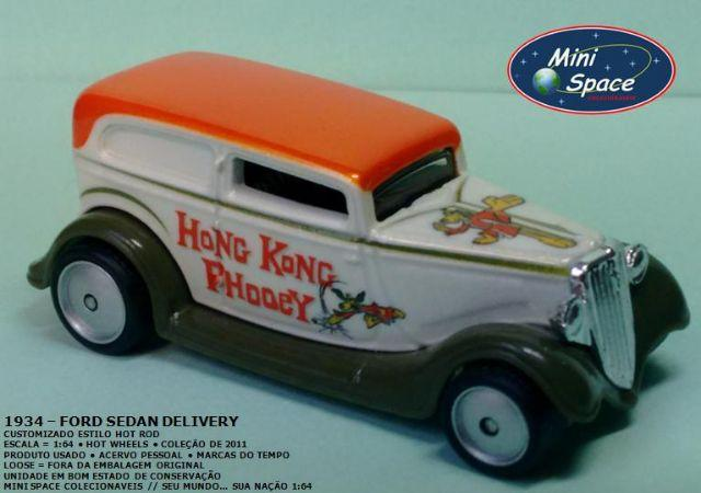 Miniatura 1:64 Ford Sedan 1934 Customizado da Hot Wheels