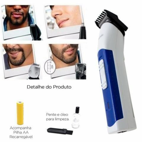 Máquina 3 In 1 Nova Cortar Cabelo Aparar Barba E Pelos Nariz ... 219d05883327