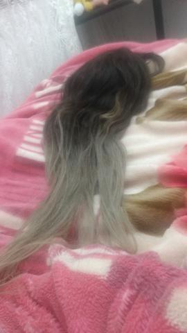 Peruca de cabelo 100% humano
