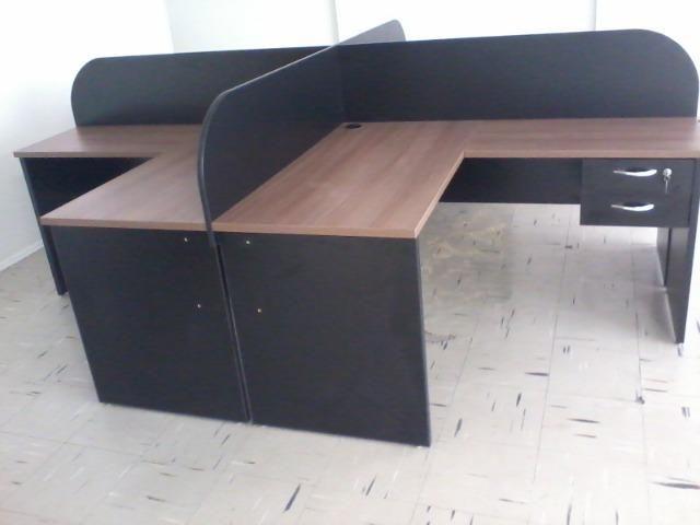 Estação de trabalho para escritório modelo em L (nova) - Foto 4