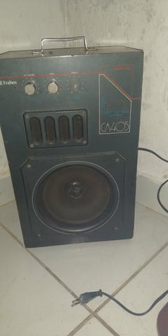 Caixa de som funcionando perfeitamente