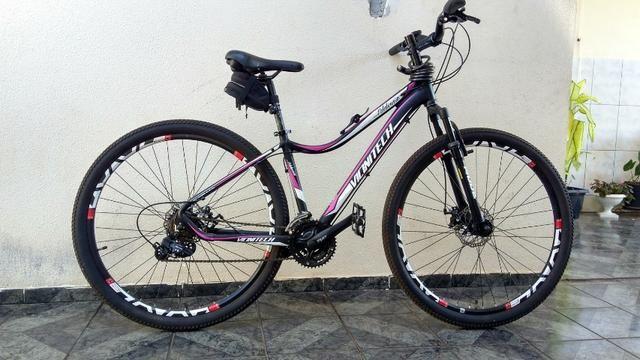 Mountain bike Aro 29 freio a Disco Seminovo - Foto 5