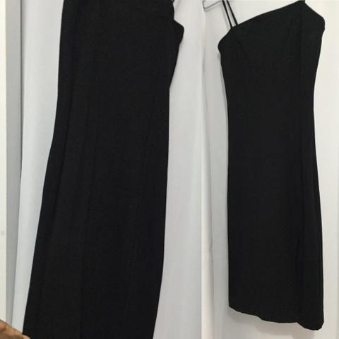 Vestido tubinho preto com fenda
