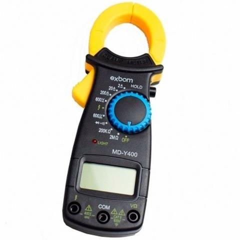 Alicate Amperímetro Profissional Digital Medição 600v Exbom - Foto 2