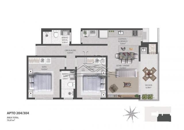 Apartamento à venda com 2 dormitórios em Ingleses do rio vermelho, Florianópolis cod:1647 - Foto 8