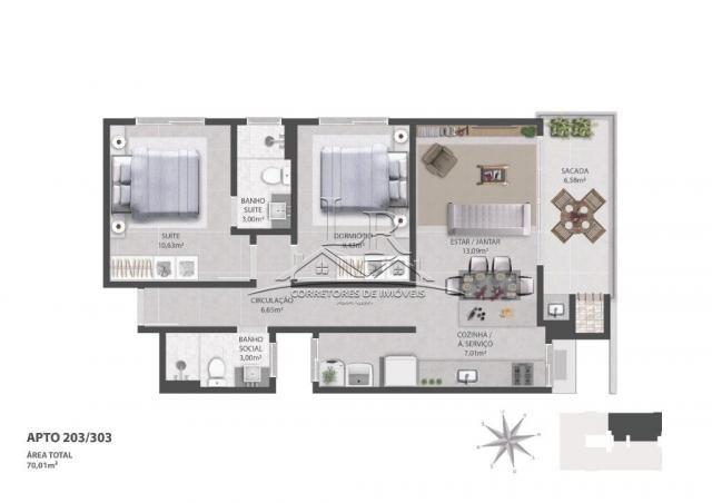 Apartamento à venda com 2 dormitórios em Ingleses do rio vermelho, Florianópolis cod:1647 - Foto 9