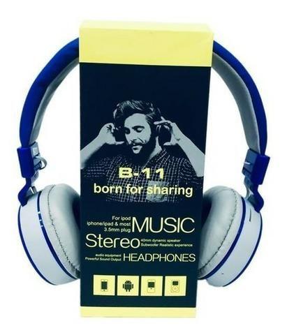 Fone De Ouvido Wireless Bluetooth Micro Sd Fm B11 - Foto 6