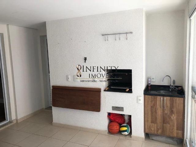 Apartamento 90 m², 2 suítes, sala estendida, varanda gourmet, 1 vaga, Aquárius - Foto 4