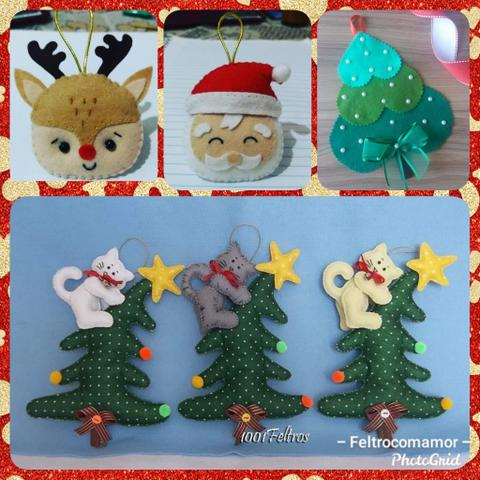 Artigos natalinos em feltro - Foto 4