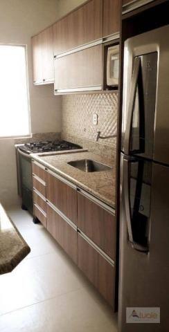 Apartamento com 3 dormitórios para alugar, 65 m² - parque euclides miranda - sumaré/sp
