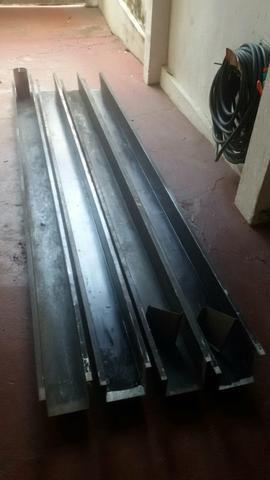Calha galvanizada zerada 12 metros de cor preta - Foto 3