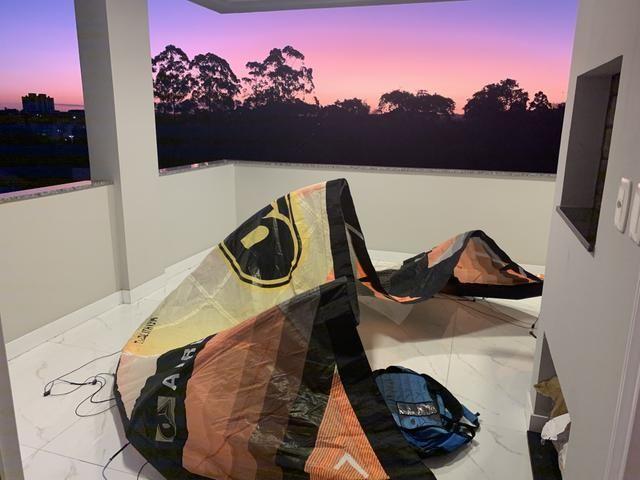 Kite Airush Lithium 2014 tamanho 7 com barra e Mochila