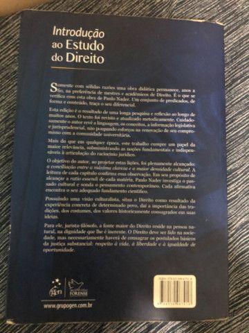 Livro Introdução ao Estudo do Direito - Paulo Nader - Perfeito Estado - Foto 3